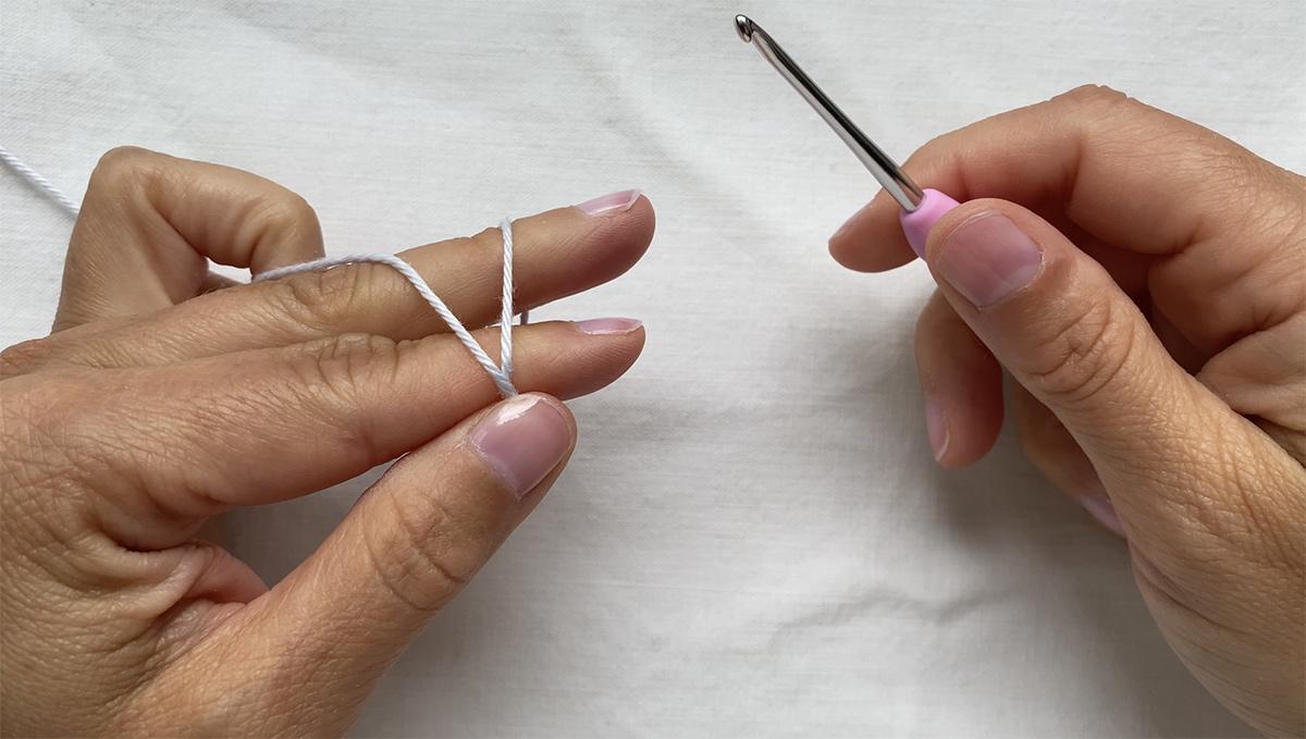 The crochet magig ring - step 1